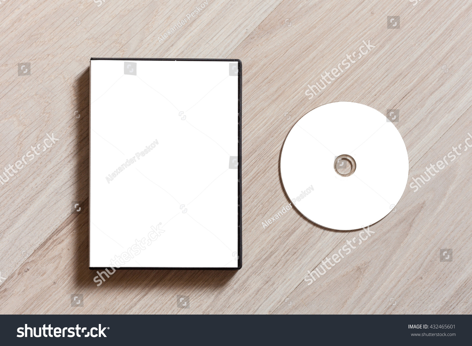 dvd cd disc cover case mockup stock photo 432465601 shutterstock. Black Bedroom Furniture Sets. Home Design Ideas