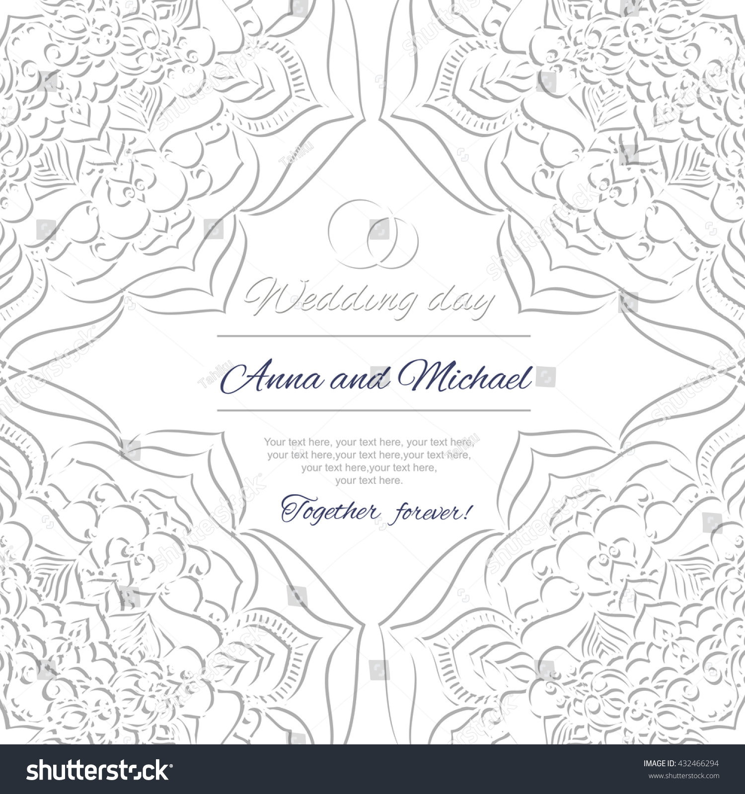 Wedding Invitation Wedding Card Abstract Ornament Stock Vector (2018 ...