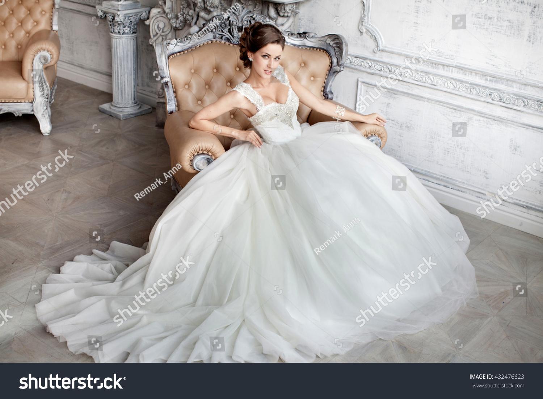 Beautiful wedding dress bride wedding dress stock photo for In stock wedding dresses