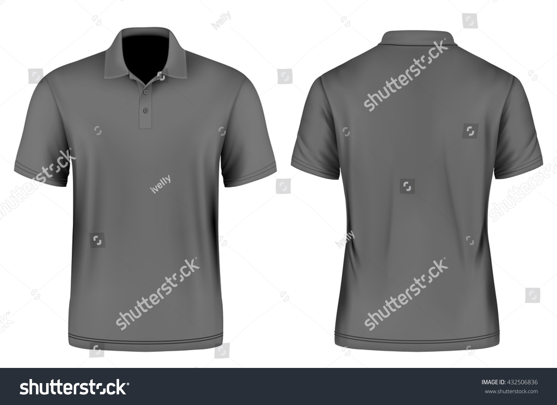 Mens Slim Fitting Polo Shirt Vector Illustration Fully Editable