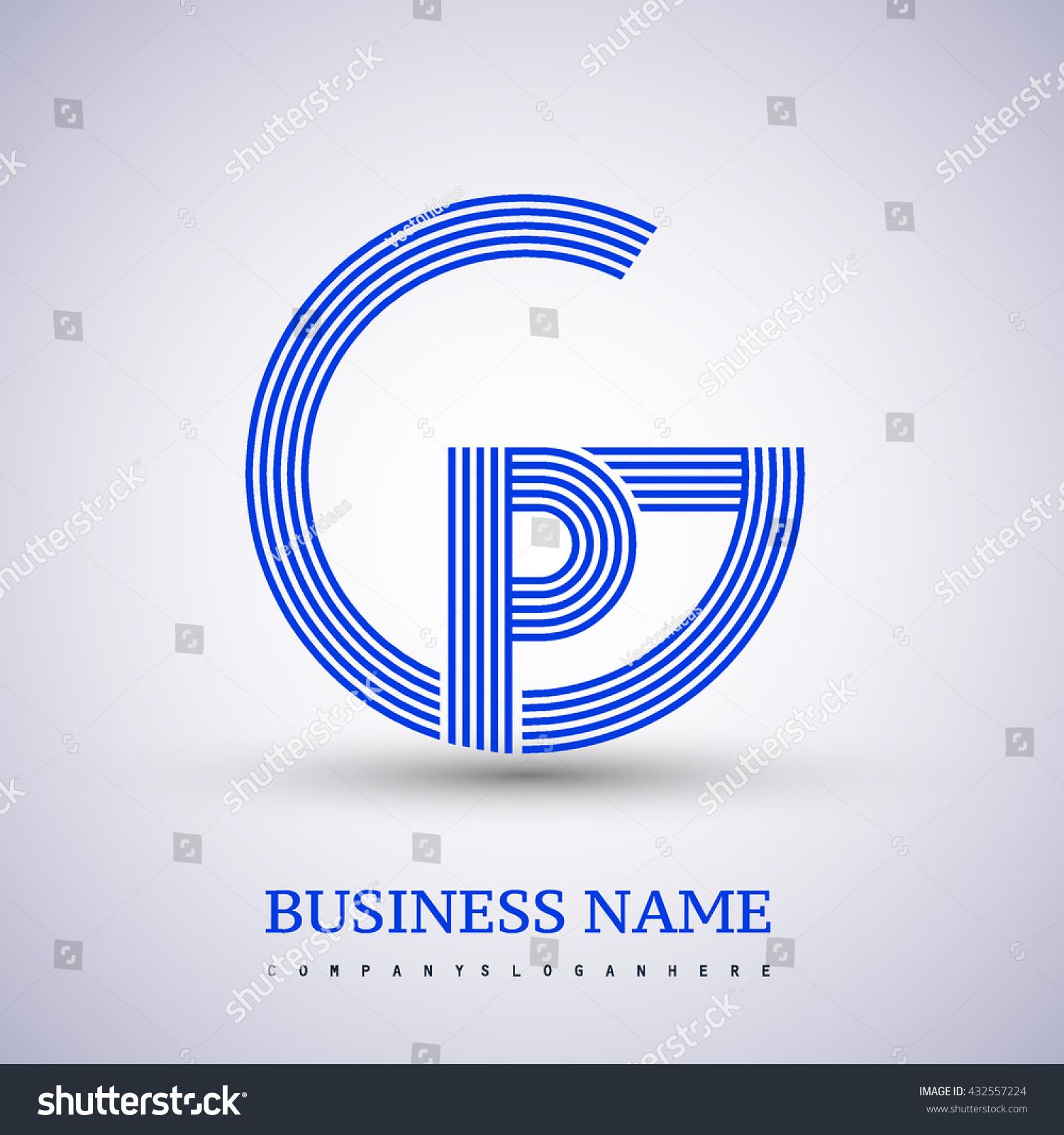 Letter Gp Pg Linked Logo Design Stock Vector 432557224 Shutterstock