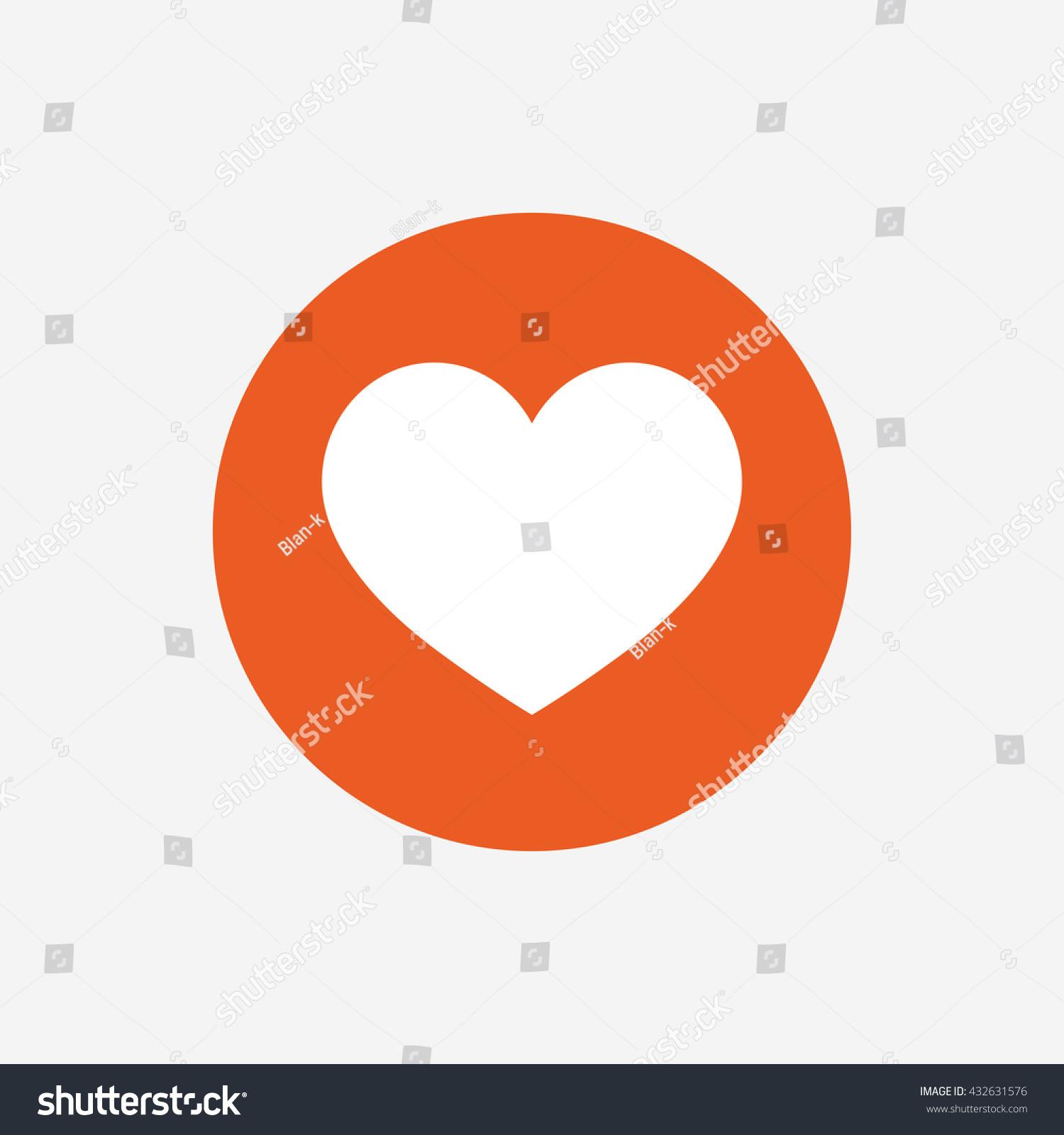 Love Icon Heart Sign Symbol Orange Stock Illustration 432631576