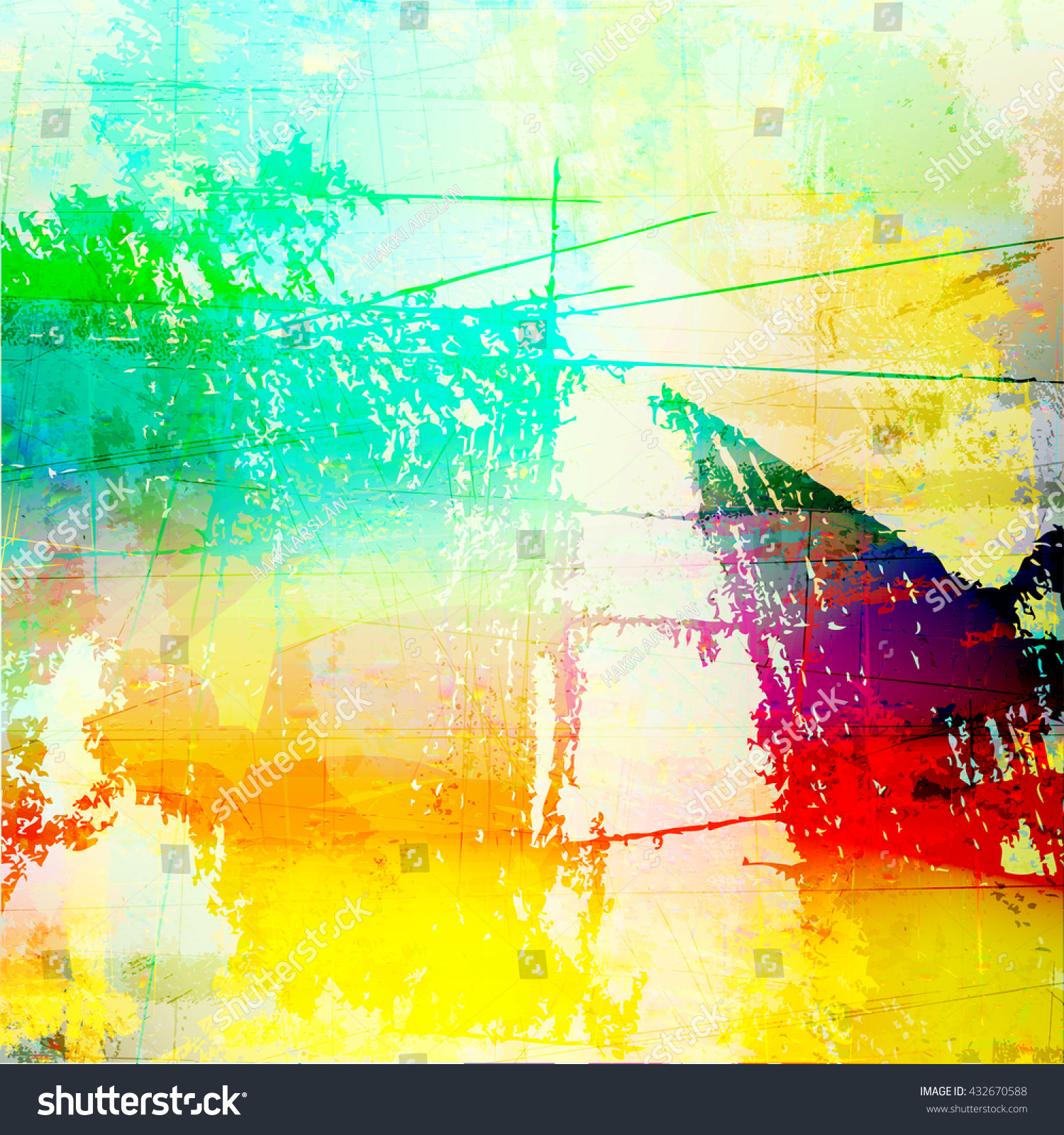 Grunge Style Abstract Color Splash Background Stock Vector (Royalty ...