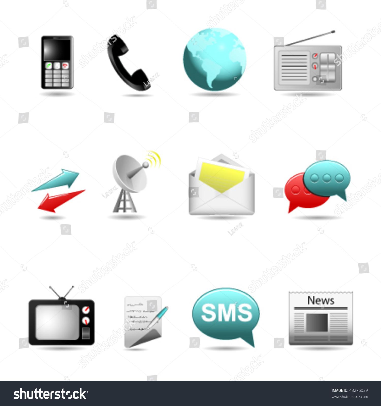 icon set communications