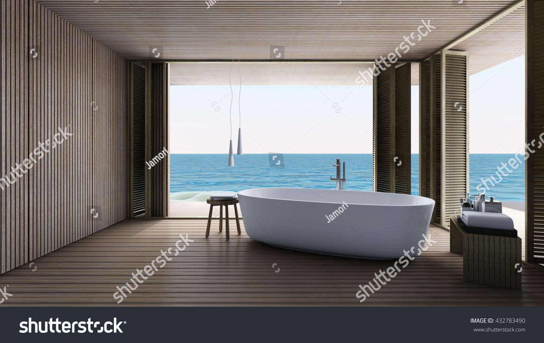 Jacuzzi Bath Take Sea View 3 D Stock Illustration 432783490 ...