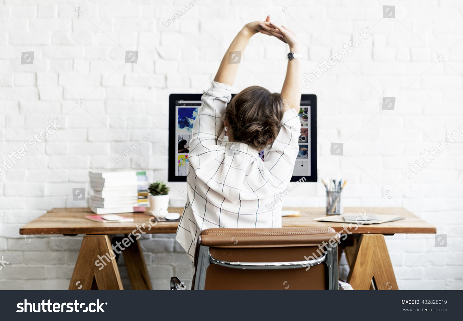 office relaxation. Woman Stretching Relaxation Resting Office Workplace Stock Photo 432828019 - Shutterstock