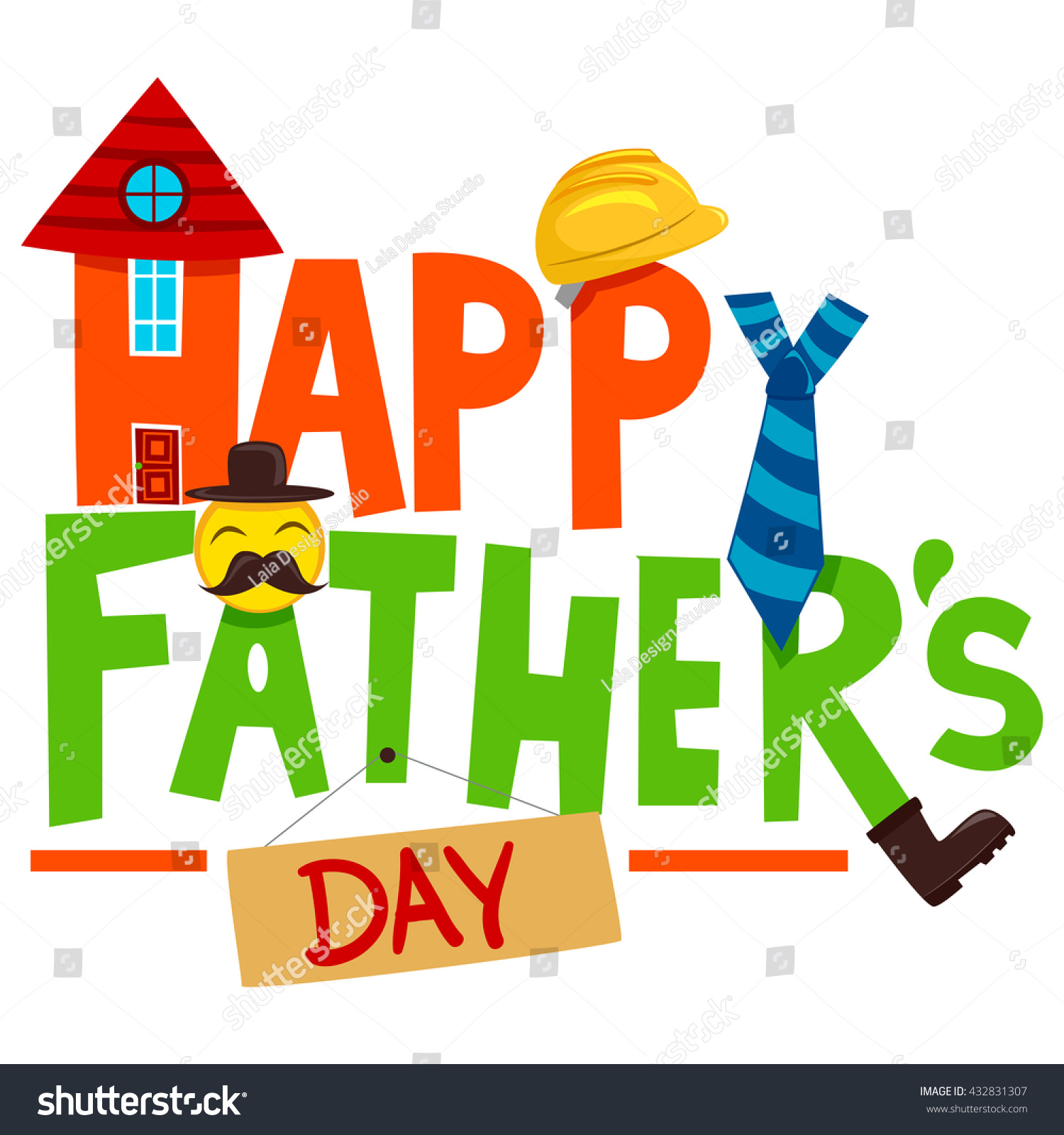 Vector illustration happy fathers day greeting stock vector vector illustration of happy fathers day greeting elements m4hsunfo