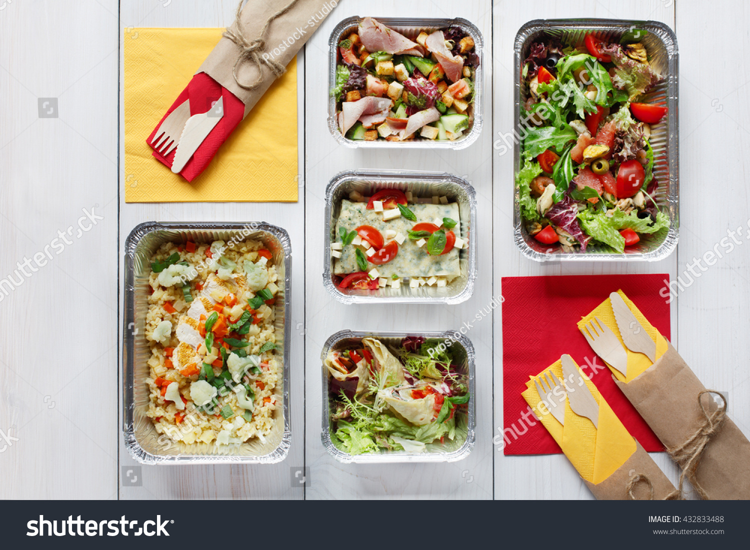 Royalty Free Healthy Food Delivery Take Away Of 432833488 Stock