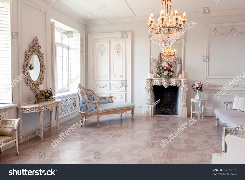 Luxury Light Interior Sitting Room Old Stock Photo (Edit Now ...