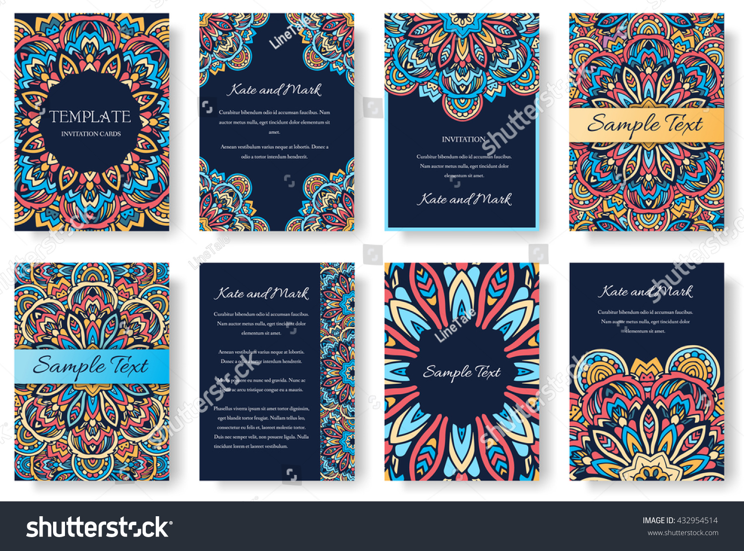 Set of old ramadan flyer pages ornament illustration concept Vintage art traditional Islam arabic indian magazine elements Vector decorative retro greeting card or invitation layout design