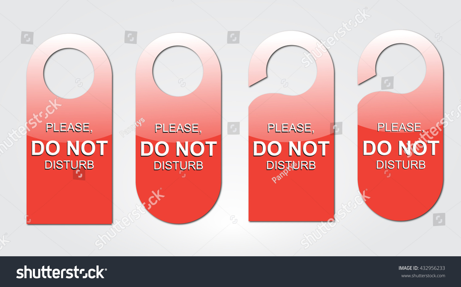 Door Tag Different Shapes Set Vector Stock Vector 432956233 ...