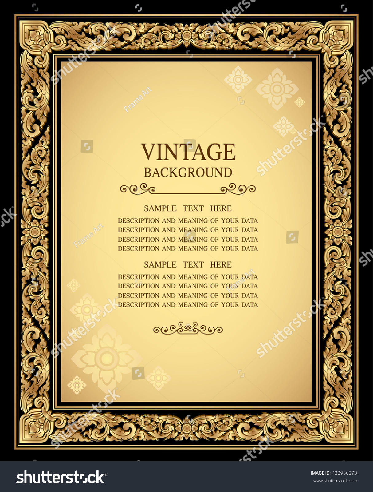 Beautiful Background For Book Cover : Royalty free vintage gold background antique style