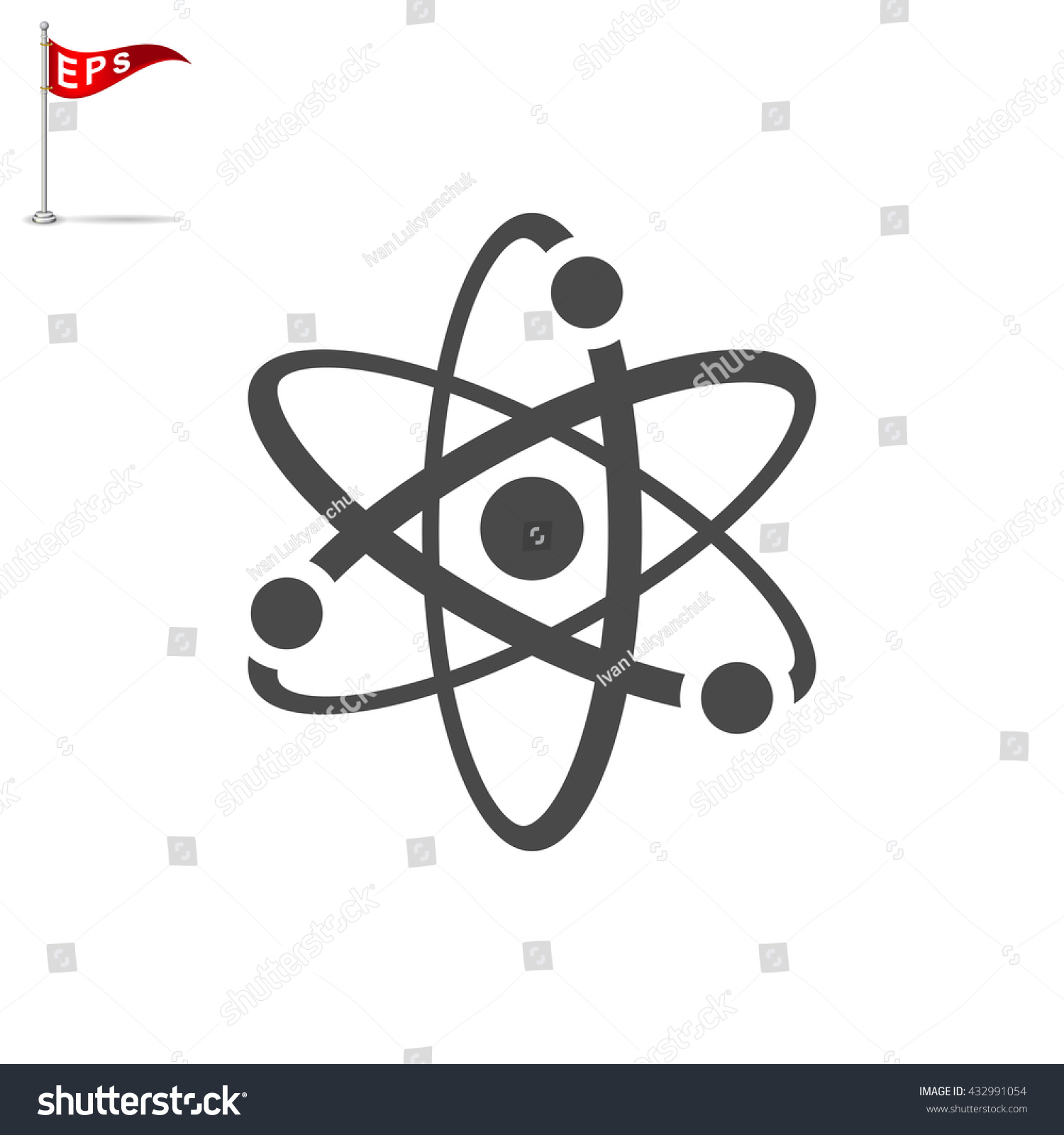 Atom icon vector atomic sign isolated stock vector 432991054 atom icon vector atomic sign isolated nuclear symbol biocorpaavc