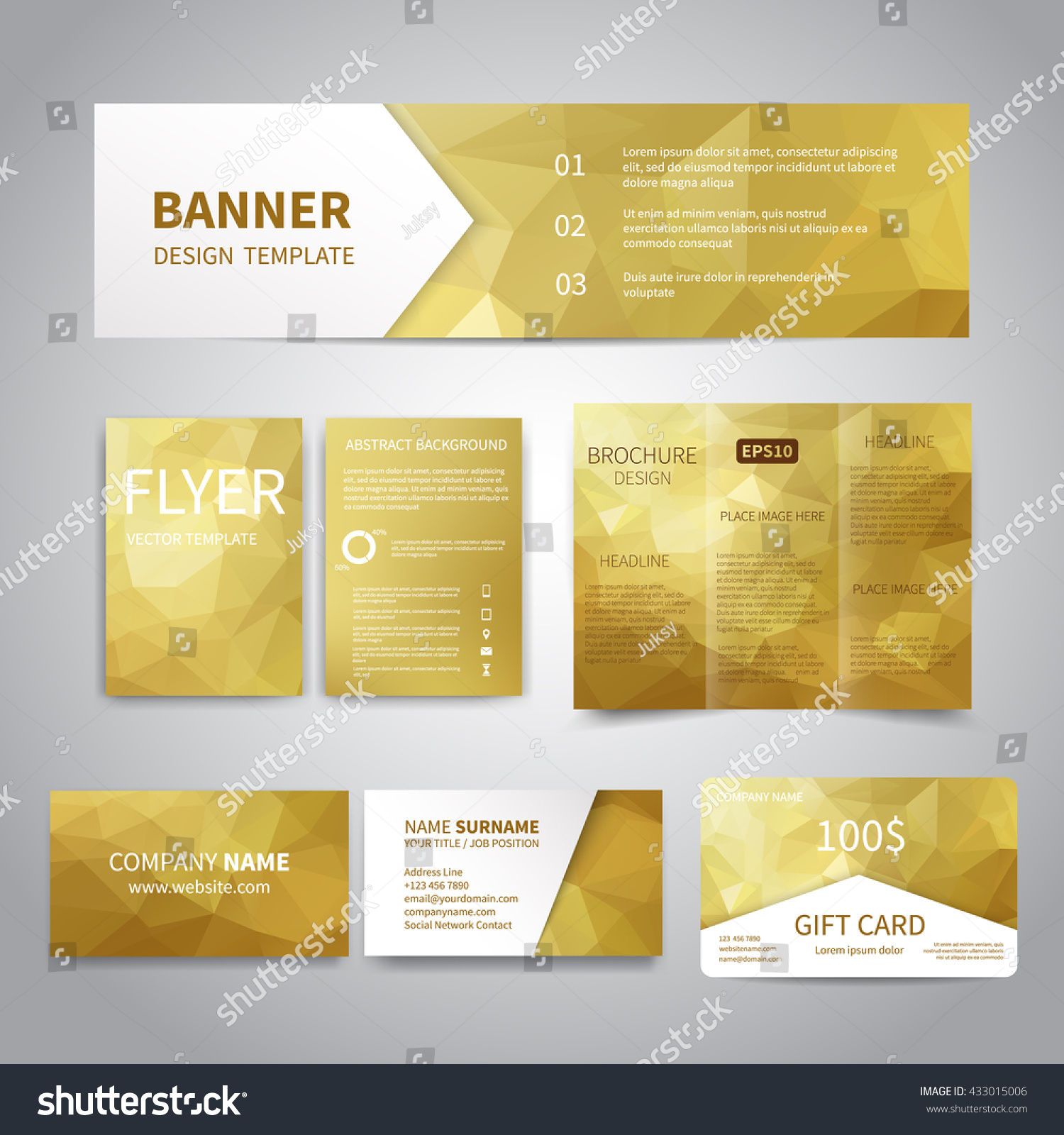 banner flyers brochure business cards t stock vector