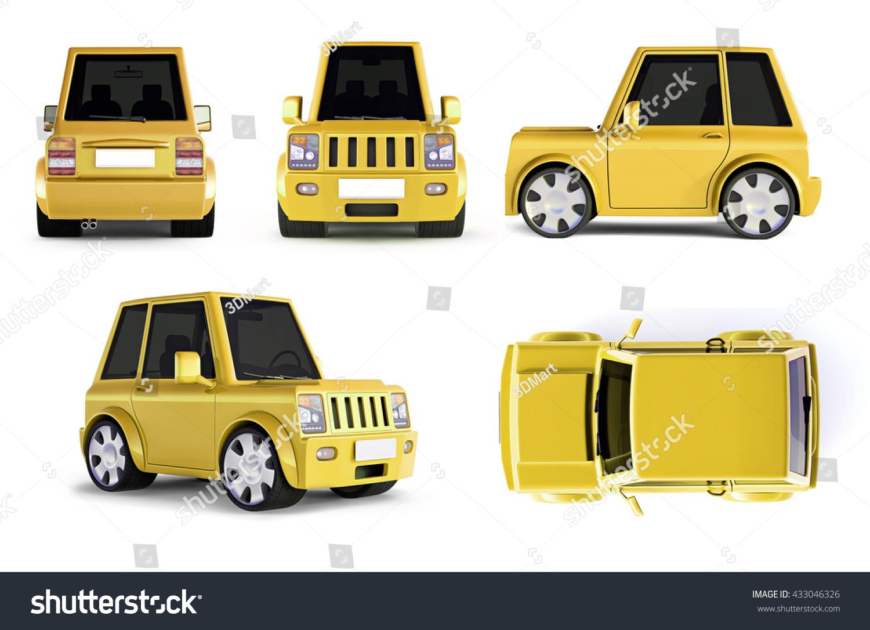 Illustration Yellow Suv Cartoon Car Stock Illustration
