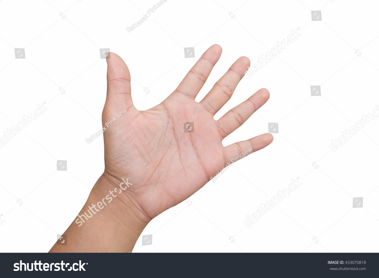 man hand hi five greet stop stock photo edit now 433070818