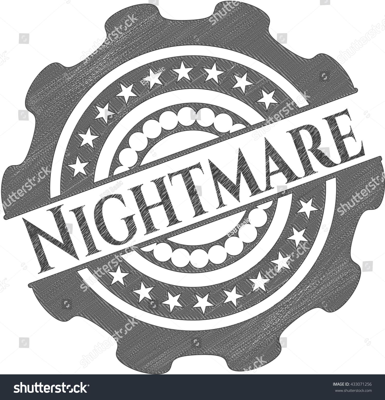 Nightmare With Pencil Strokes Stock Vector 433071256