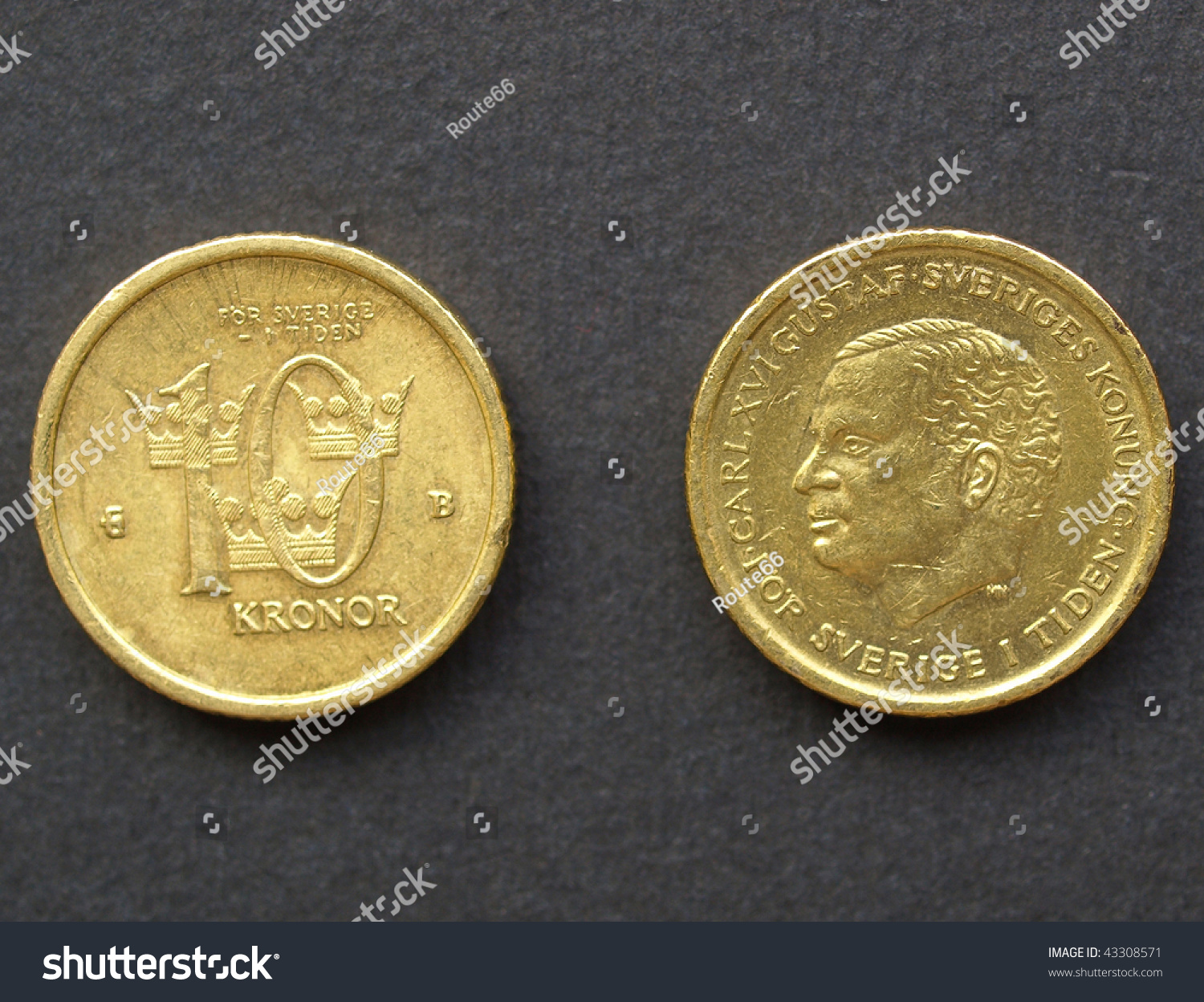 10 Swedish Krona Coin Stock Photo 43308571 : Shutterstock