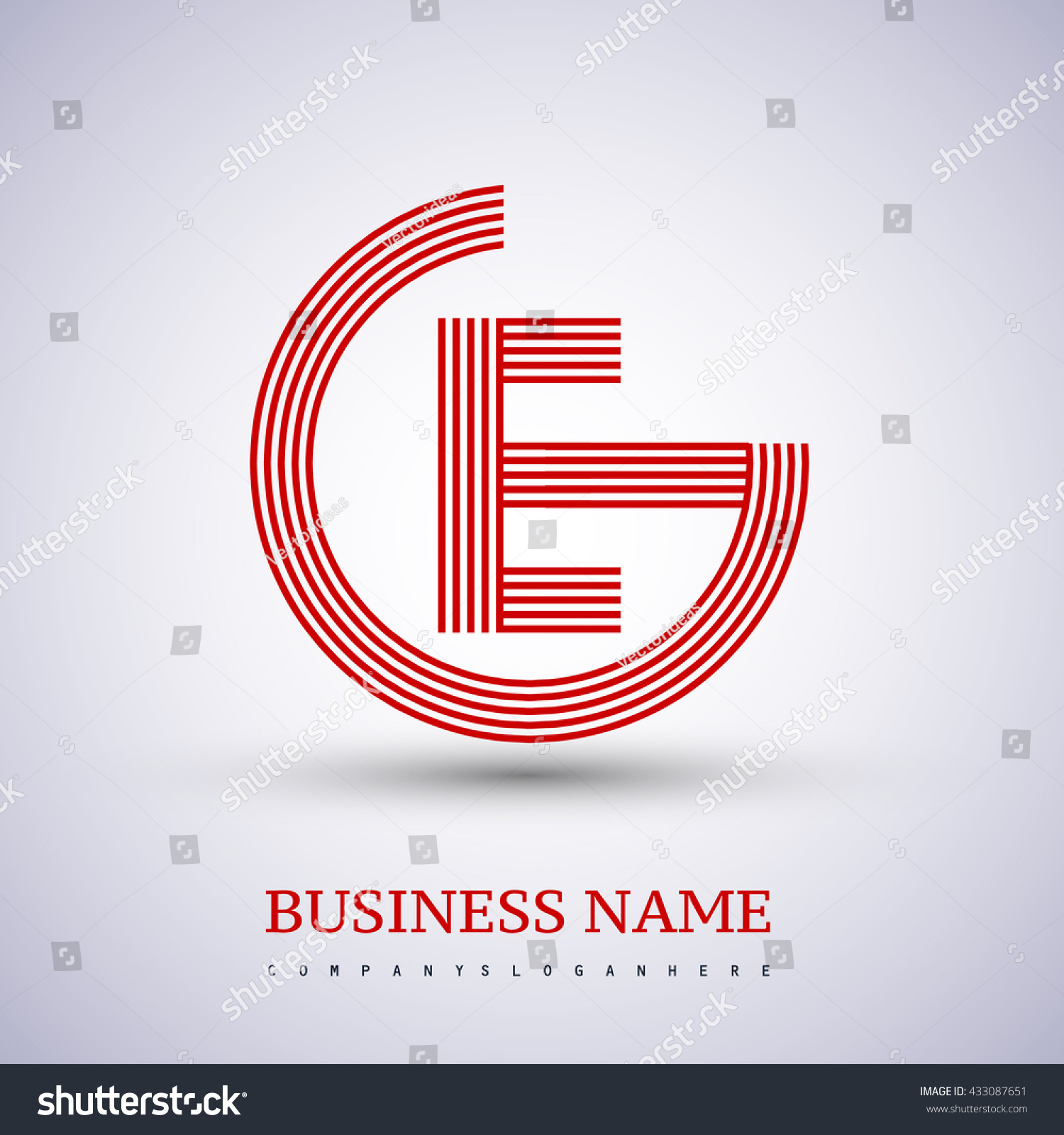 Letter ge linked logo design circle stock vector 433087651 letter ge or eg linked logo design circle g shape elegant red colored symbol biocorpaavc Gallery