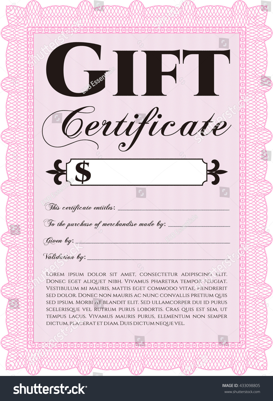 Free gift certificate template for word printable gift elegant gift certificate template images templates example free stock vector gift certificate template printer friendly complex xflitez Choice Image