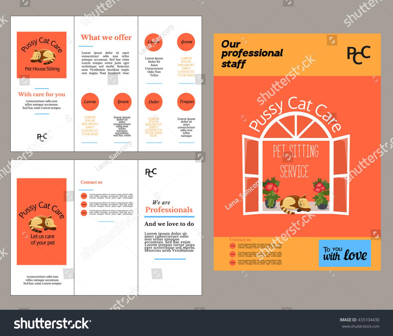 Set Templates Brochure Flyer Poster Template Stock Vector Royalty
