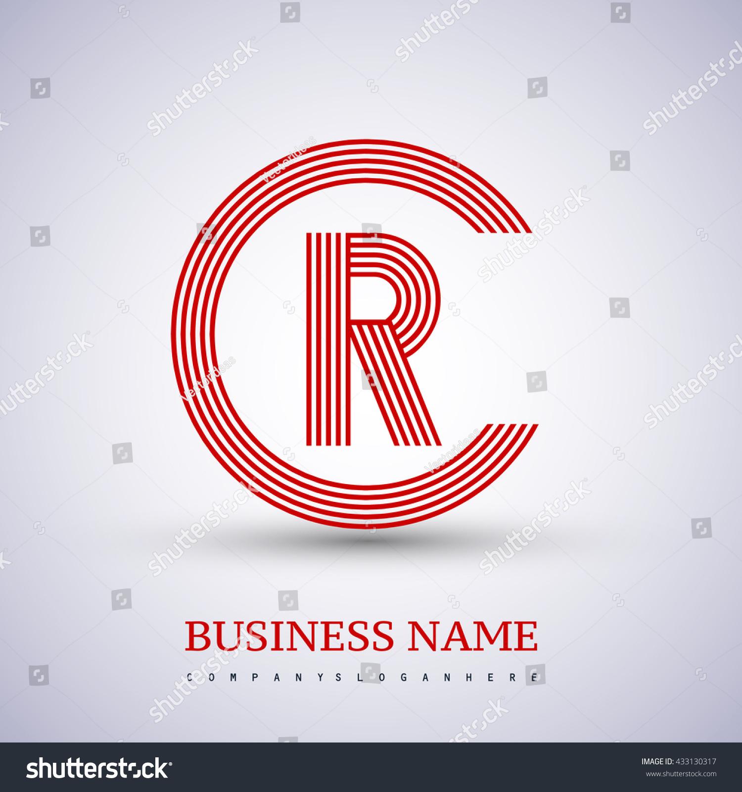 Letter Rc Cr Linked Logo Design Stock Vector Royalty Free