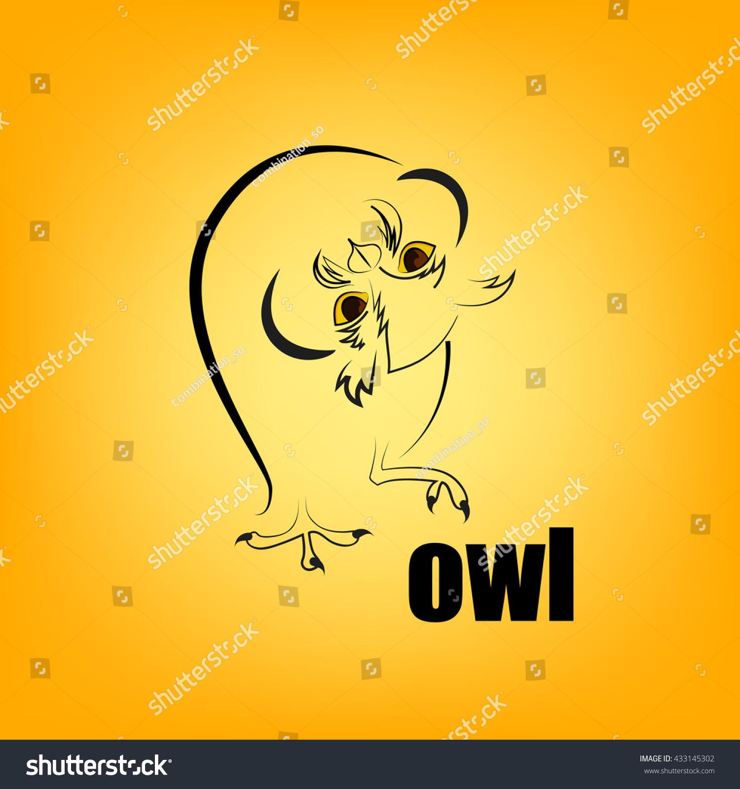 Logo Owl Striges Vector Illustration Bird Stock Vector Royalty Free