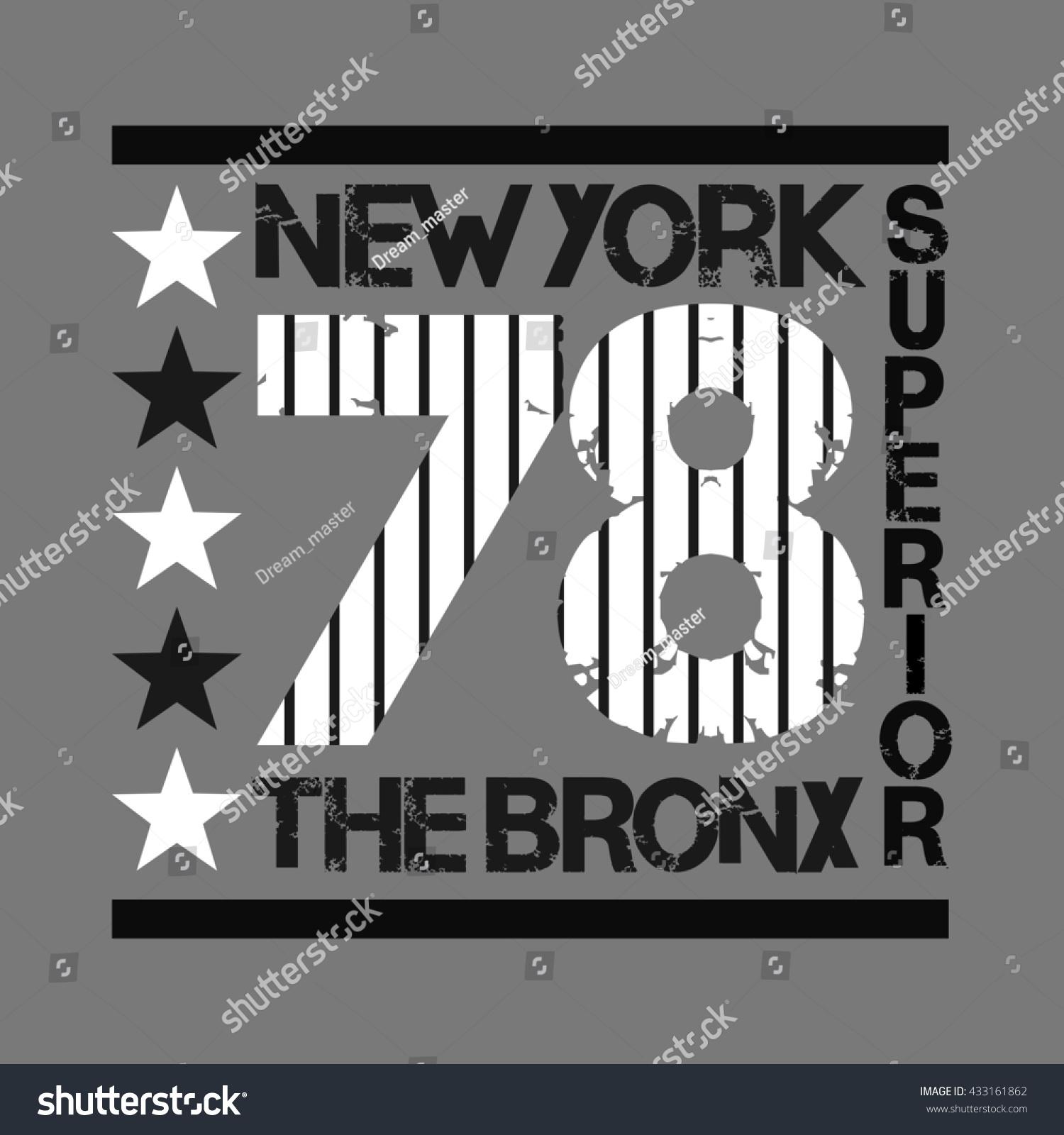 Design a t shirt nyc - New York Typography T Shirt Bronx Design Graphic Printing Man Nyc