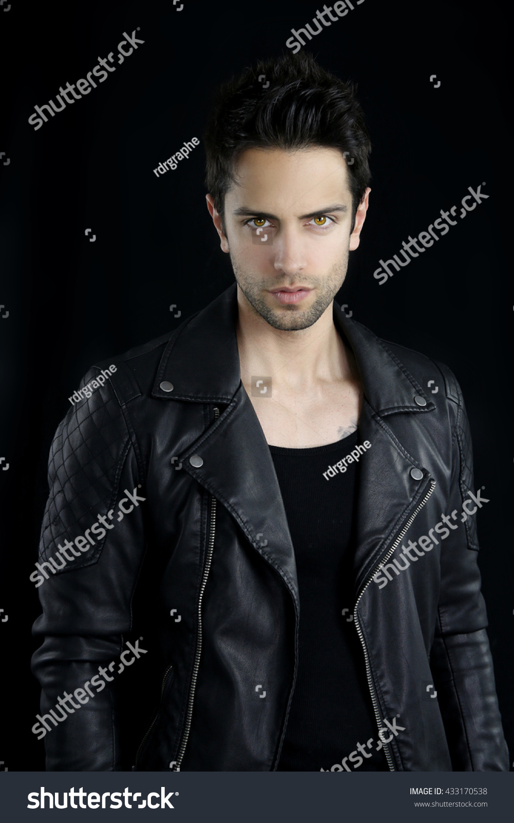 handsome vampire posing stock photo 433170538 shutterstock