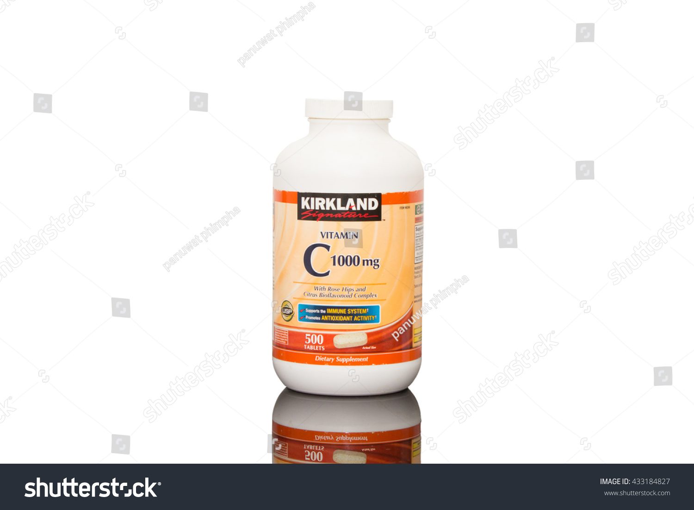 Royalty Free Bangkok Thailand June 07 2016 433184827 Stock Kirkland Vitamin C 1000mg 1000 Mg Supplements On