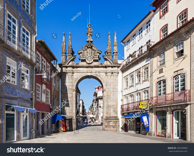 Arco Per Porta braga portugal july 11 arch rua stock photo (edit now) 433249000