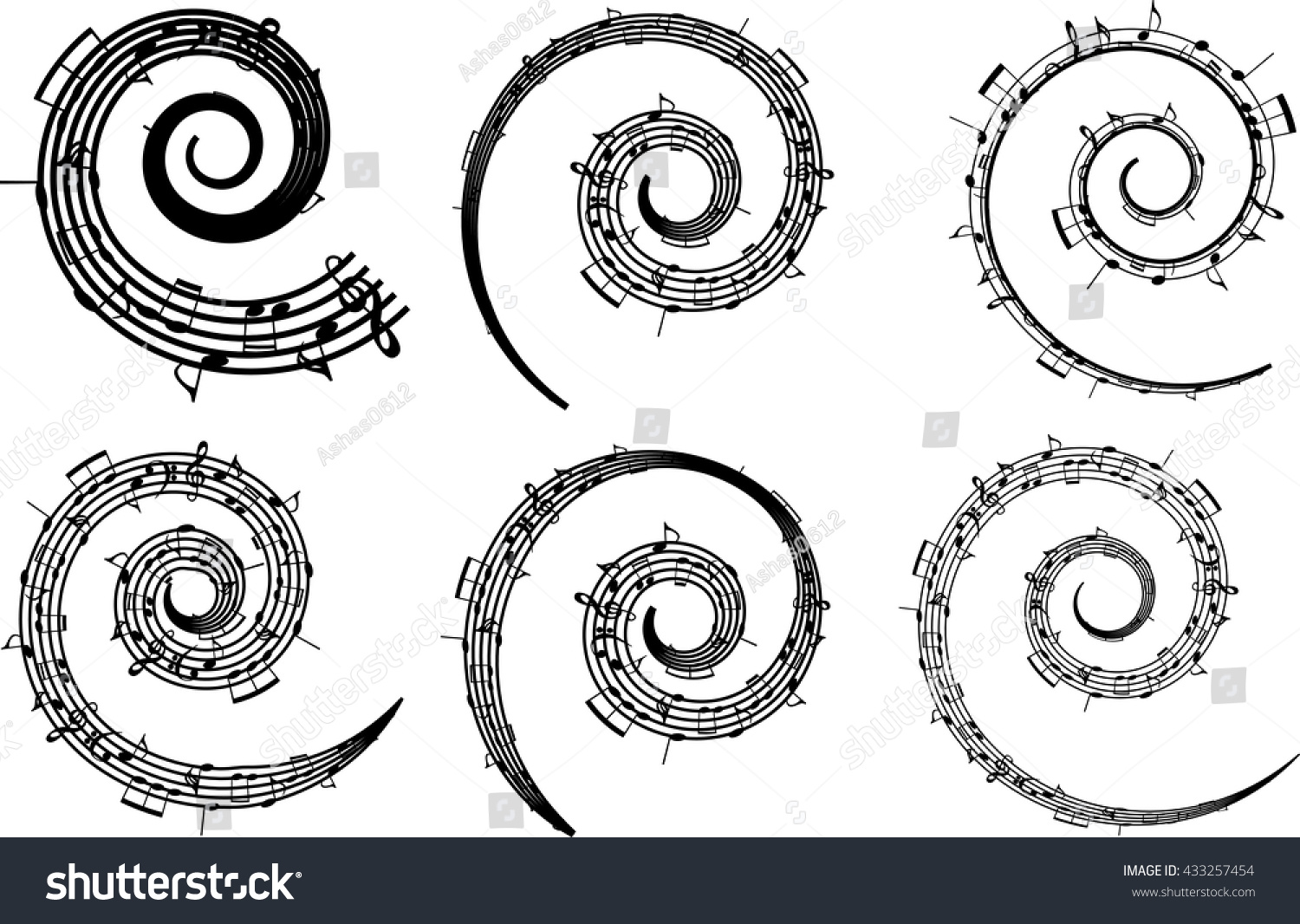Music notes bass treble clef black stock vector 433257454 a music notes bass and treble clef black and white on a white biocorpaavc Gallery