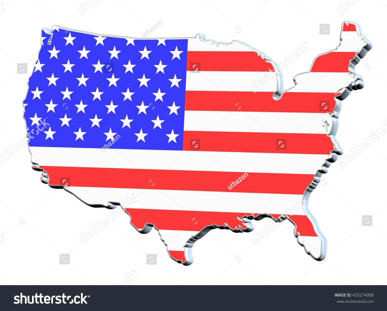 Usa Outline With States printable guest list