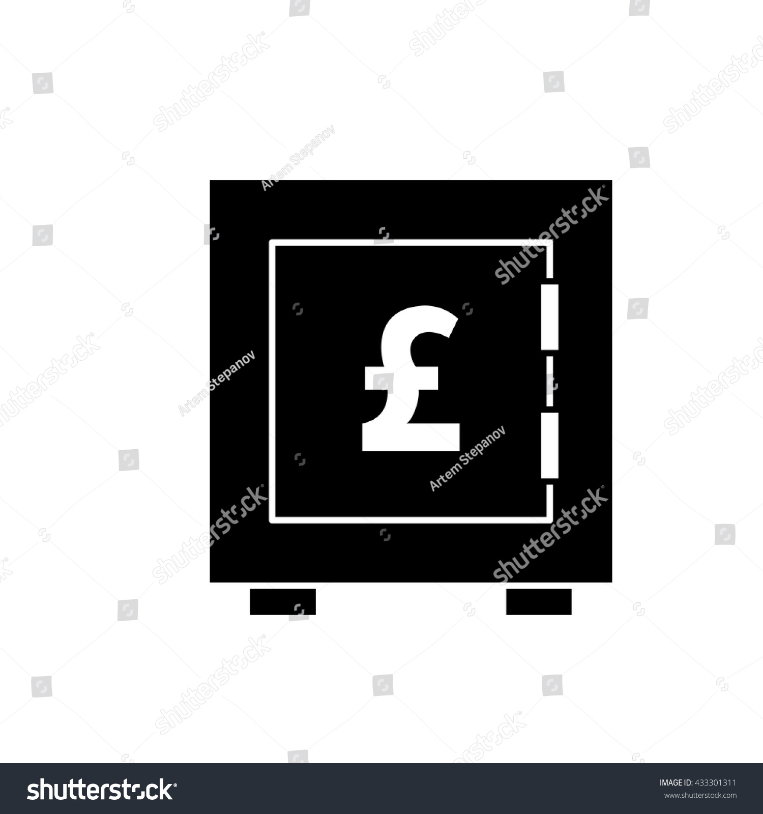 Money Pound Vector Icon Flat Sign Stock Photo Photo Vector