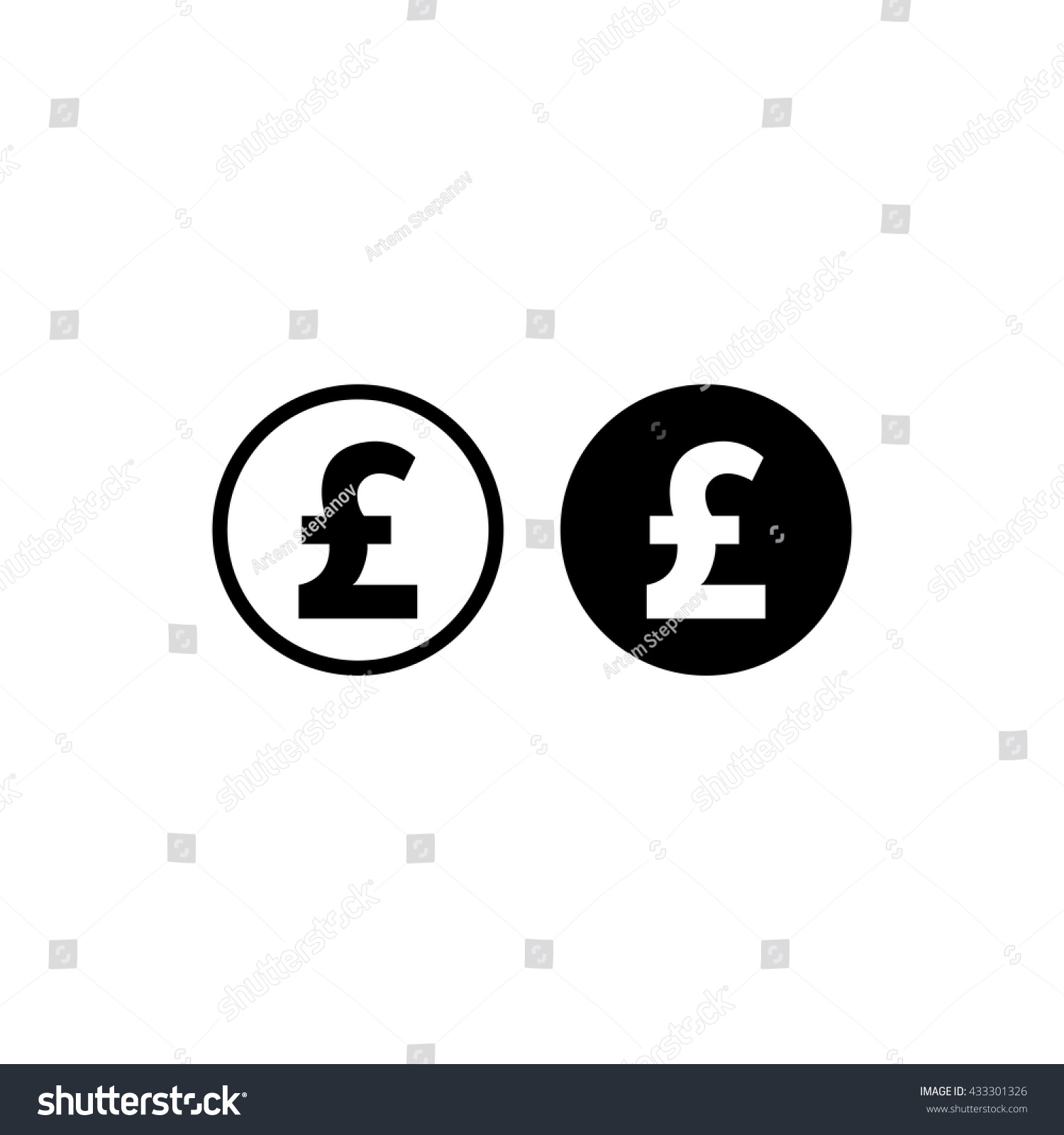 Money Pound Vector Icon Flat Sign Stock Vector 433301326 Shutterstock