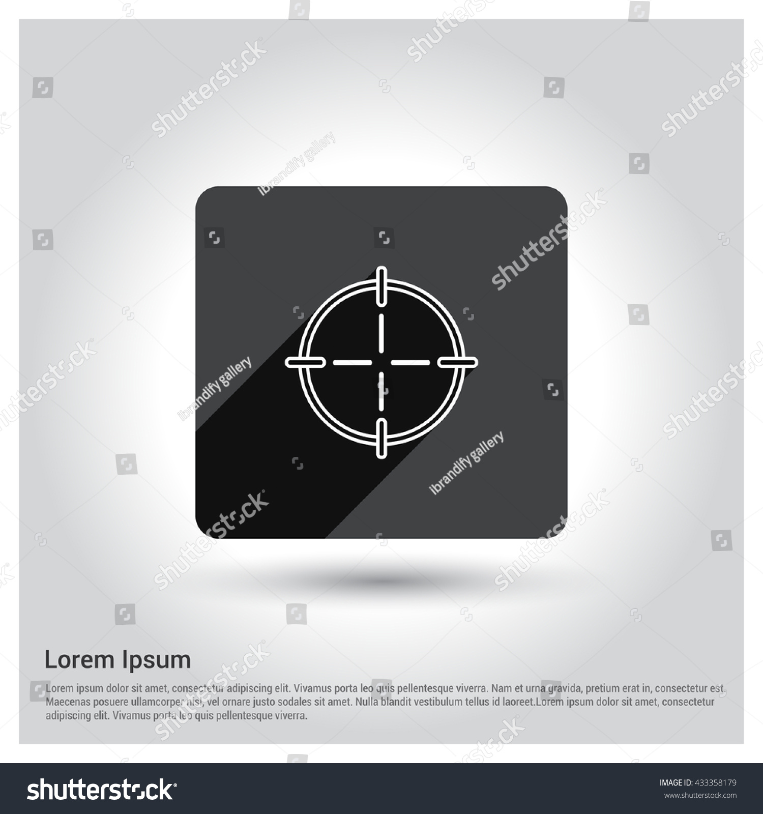 Aisl Shooting shooting target icon stock vector (royalty free) 433358179
