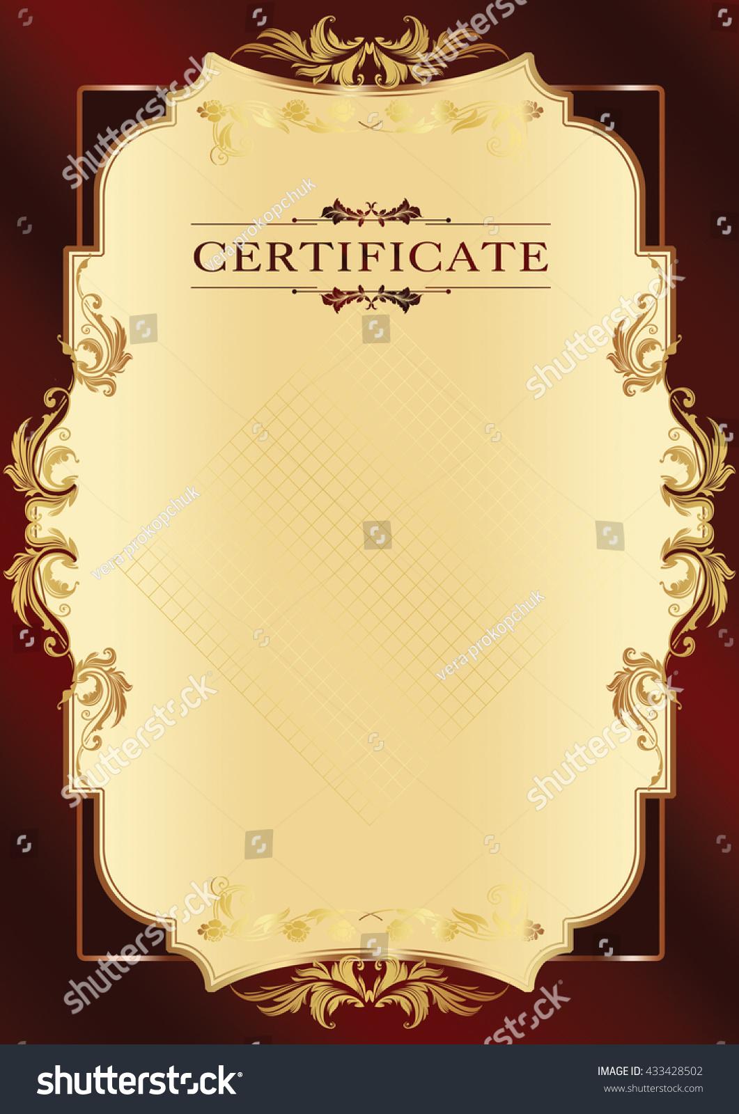 Frame Certificate Diploma Stock Illustration 433428502 - Shutterstock