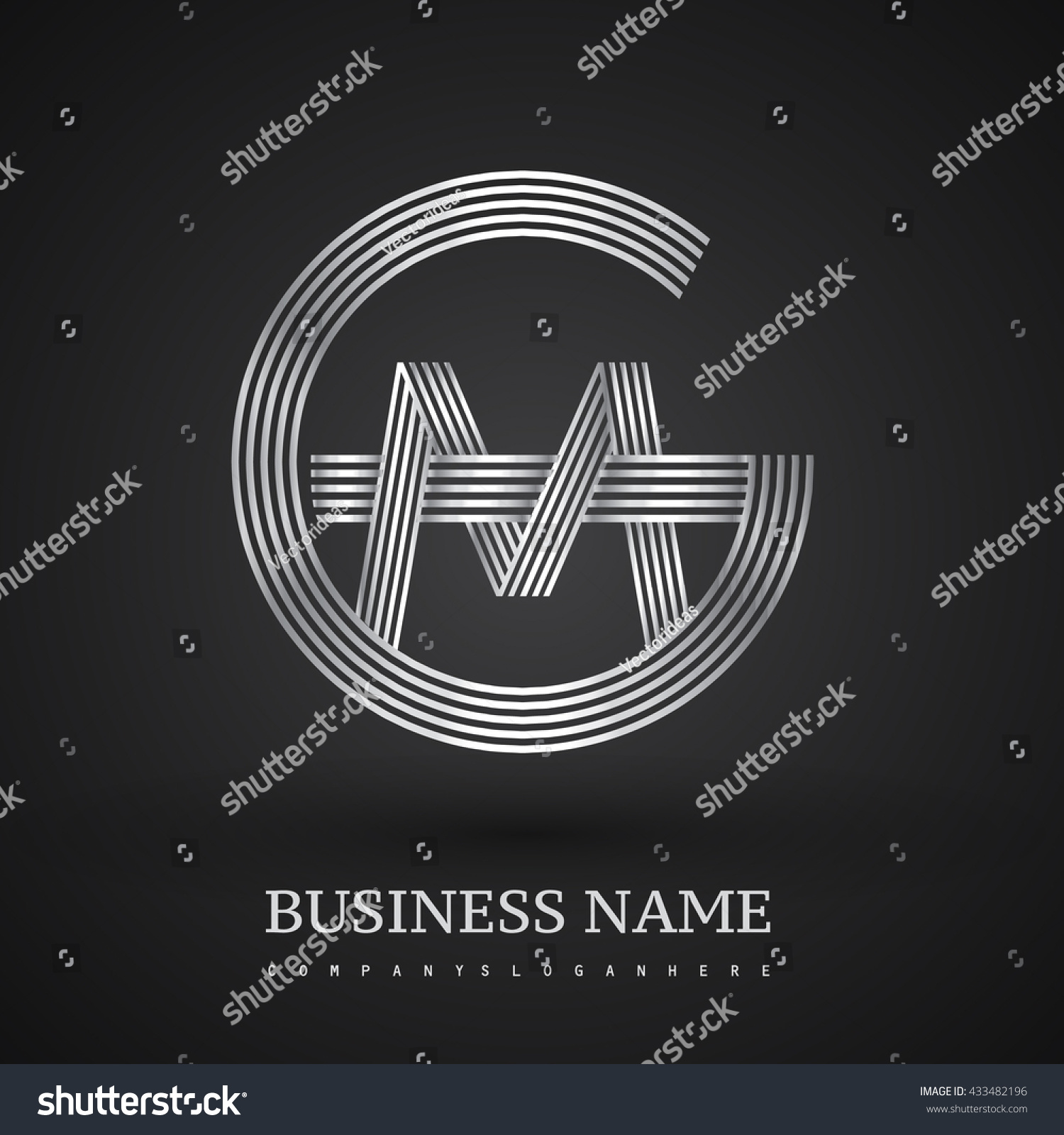Letter Gm Mg Linked Logo Design Stock Vector Royalty Free