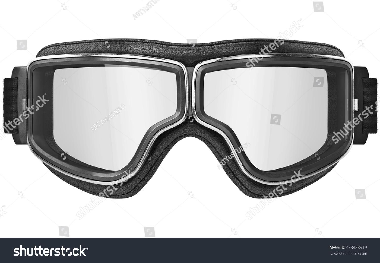 Black Aviation Glasses Retro Style Chrome Stock Illustration