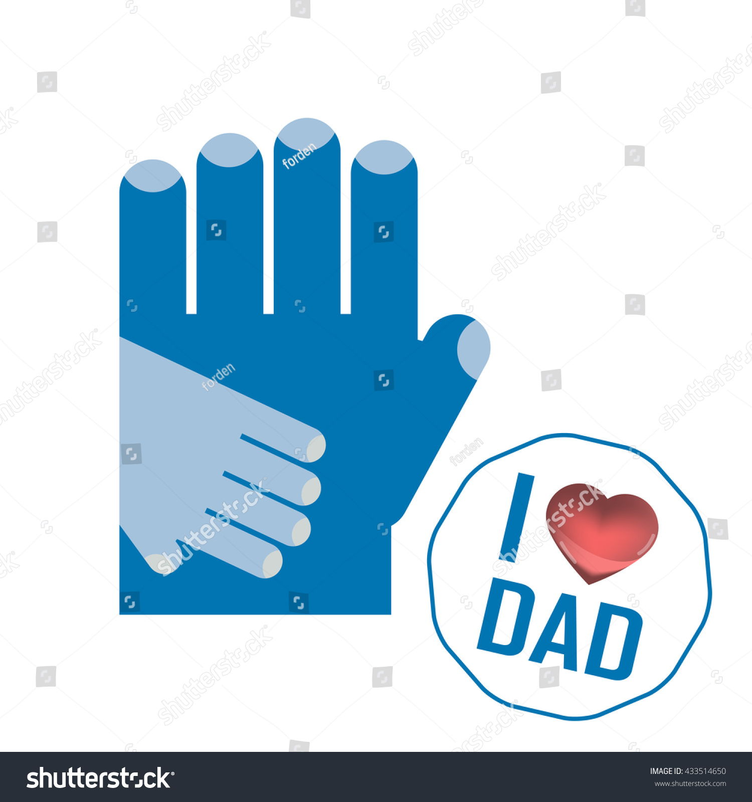 Happy Fathers Day Card Sign Vintage Stock Illustration 433514650