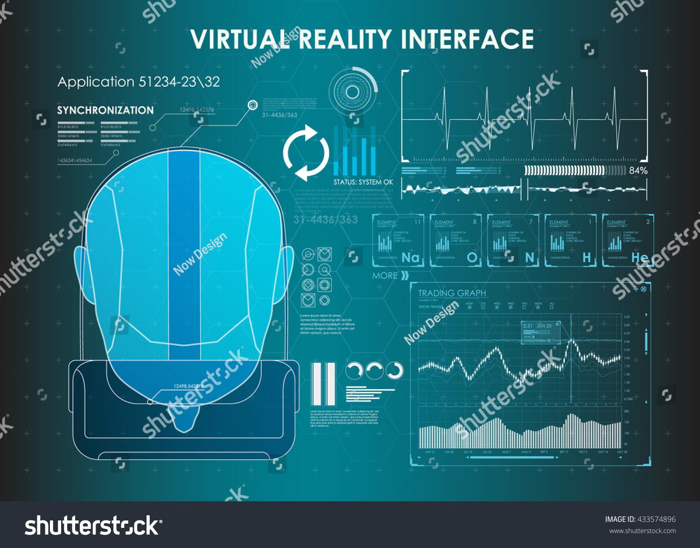 Set HUD Elements Virtual Reality VR Stock Vector (Royalty Free ...