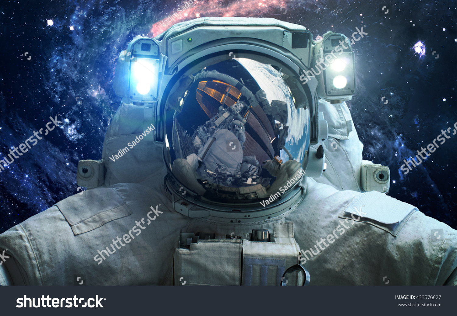 Astronaut outer space spacewalk elements this stock photo for Outer space elements
