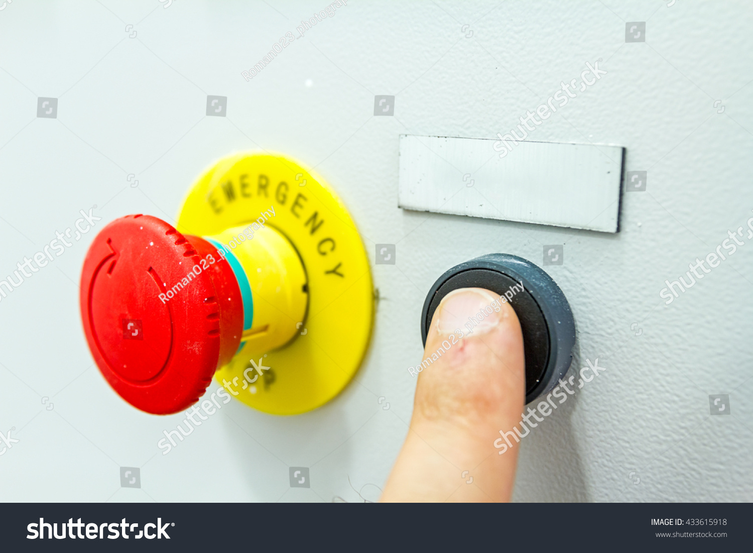 Reset Fuse Box Emergency Red Shutdown Stock Photo Edit Now Handle With Panic Button