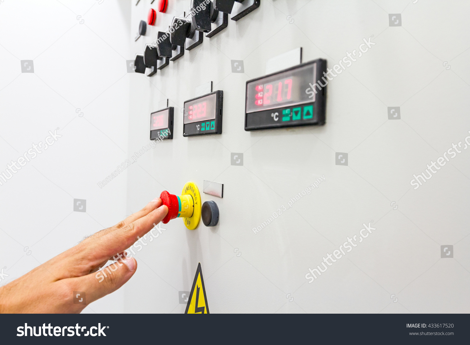 Activation Shutdown Fuse Box Display Digital Stock Photo