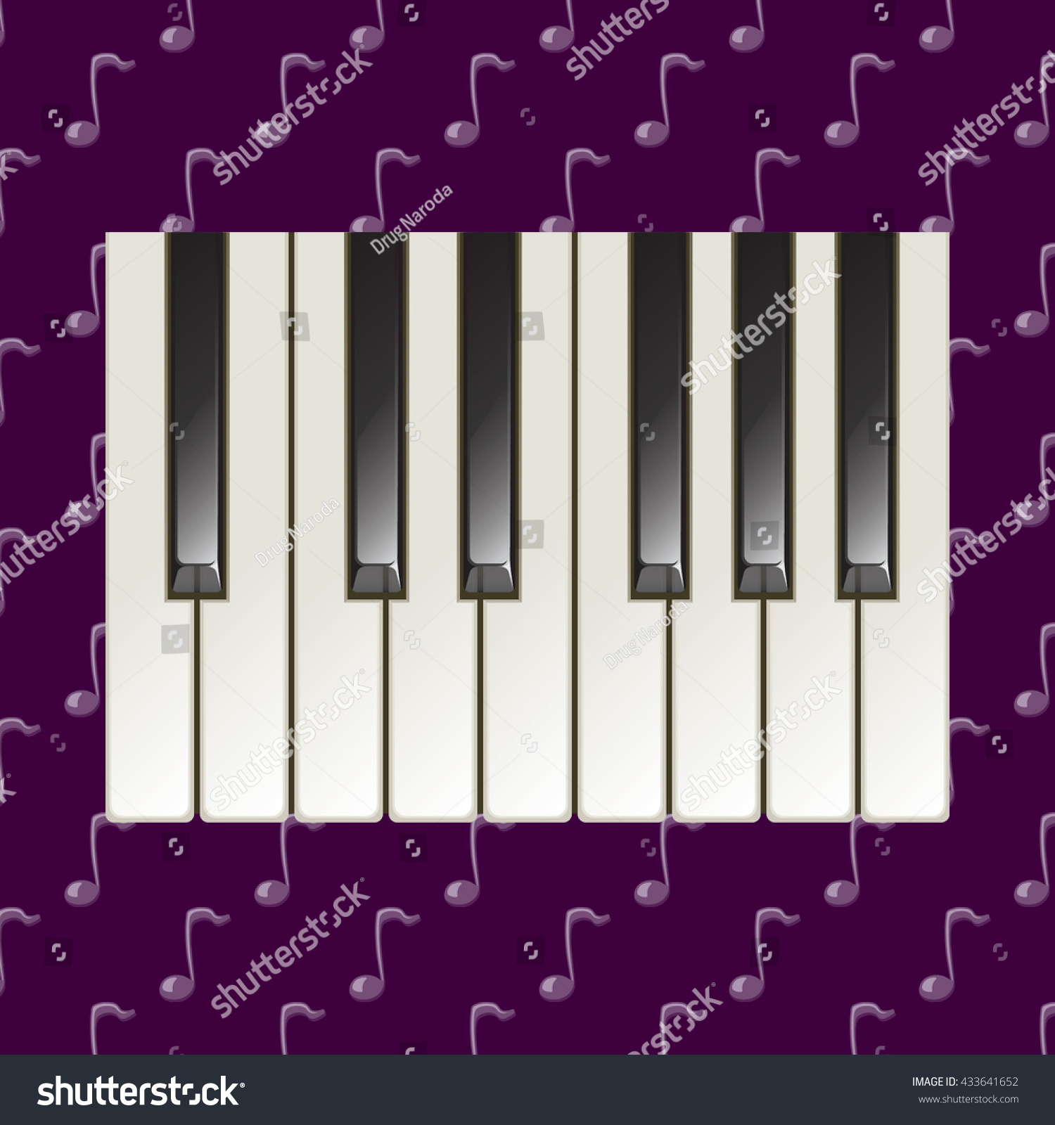 Realistic piano keys pattern ivory black stock vector 433641652 realistic piano keys pattern ivory and black glossy elements on the music note symbol dark biocorpaavc Image collections