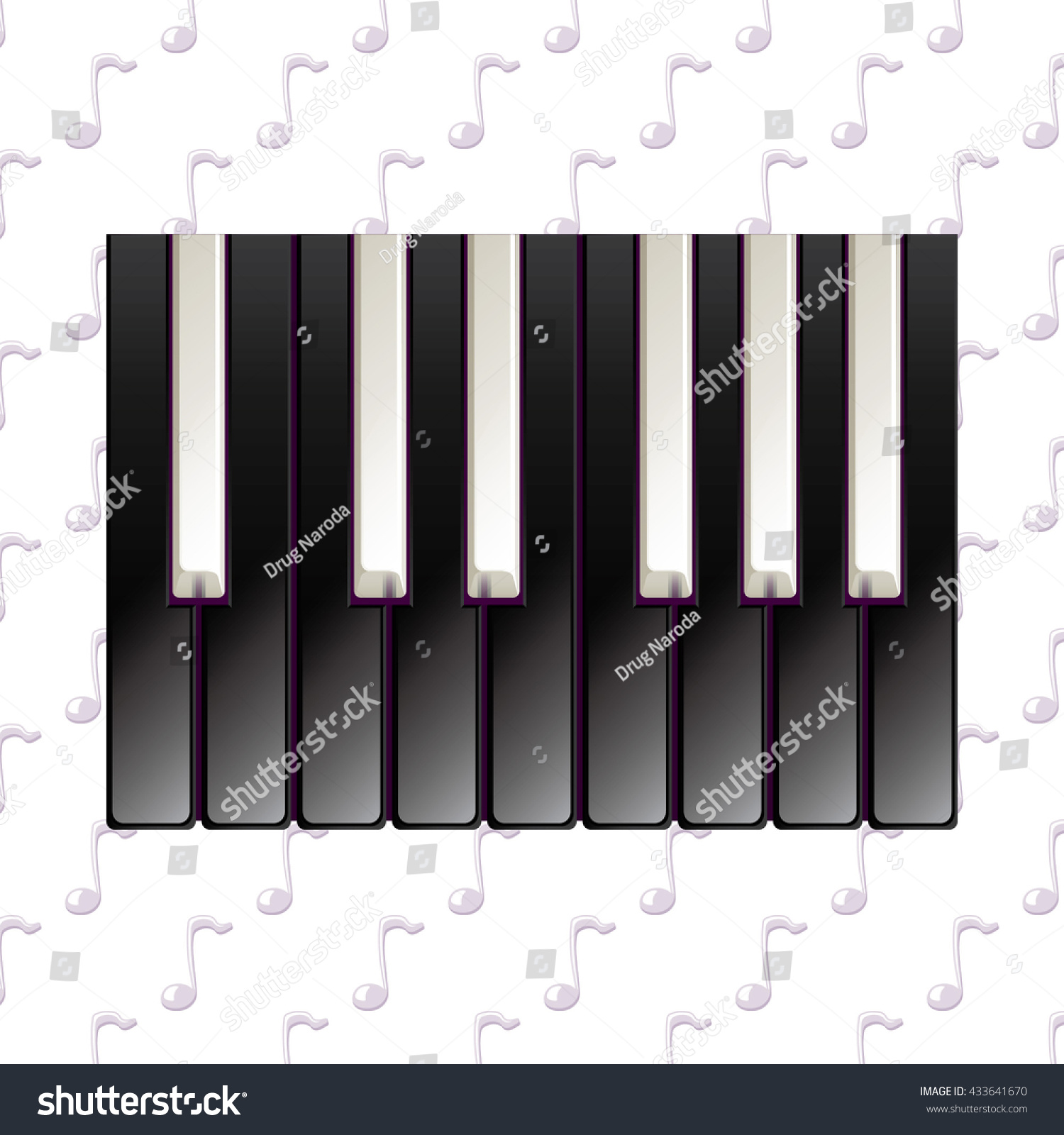 Realistic Piano Keys Pattern Black Ivory Stock Vector Hd Royalty