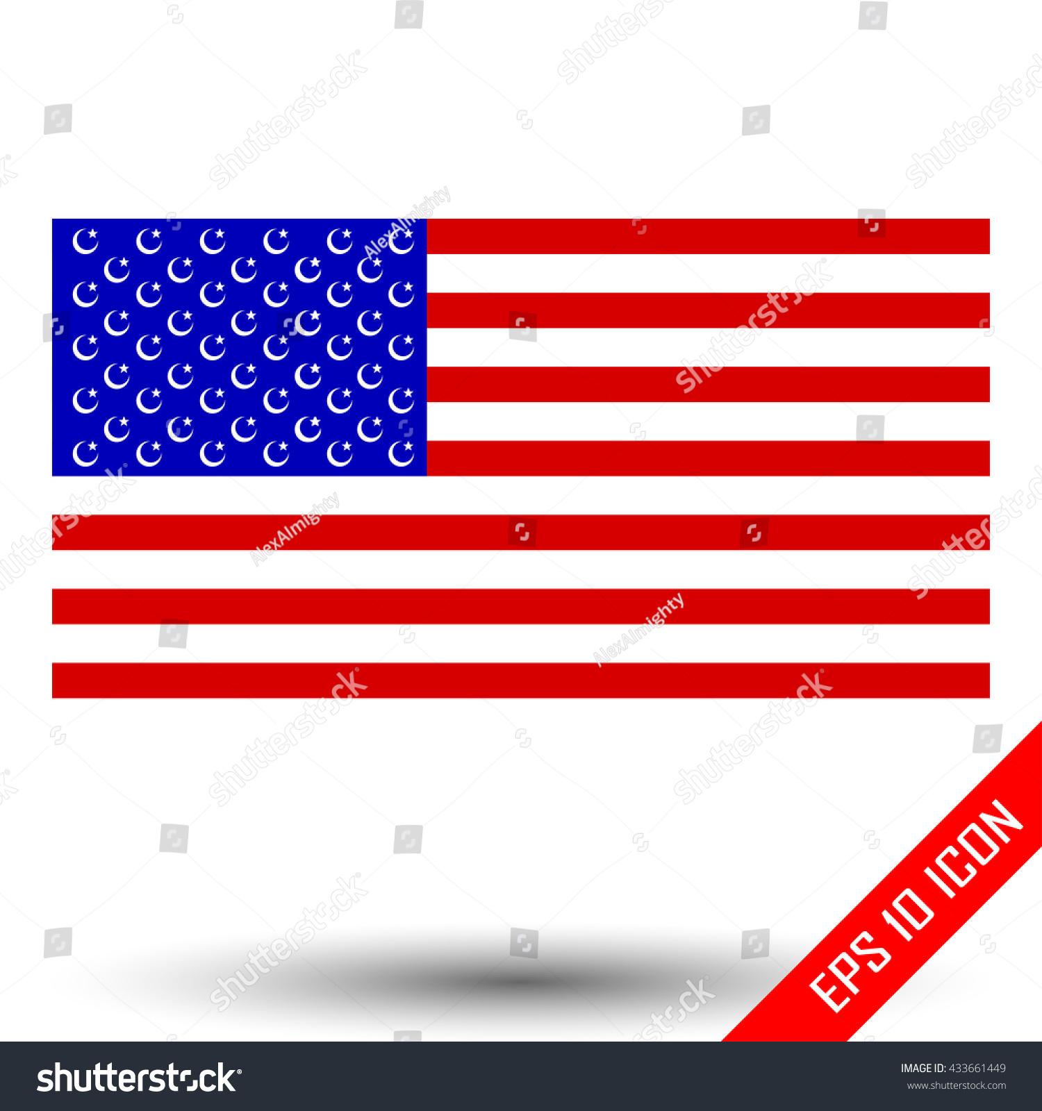 American Flag Islam Symbols Illustration Islam Stock Vector Royalty
