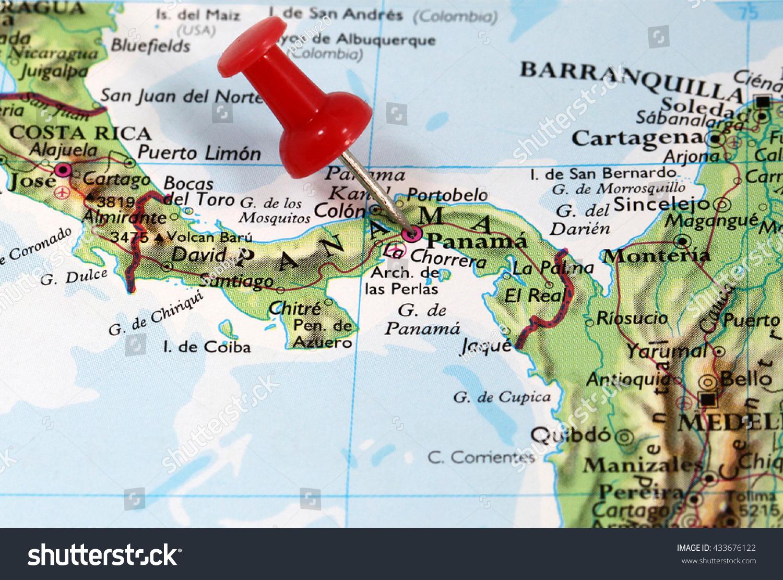 Map Pin Point Panama City Panama Stock Photo 433676122 Shutterstock