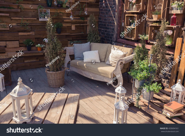 loft garden design of veranda stock photo 433694161 shutterstock