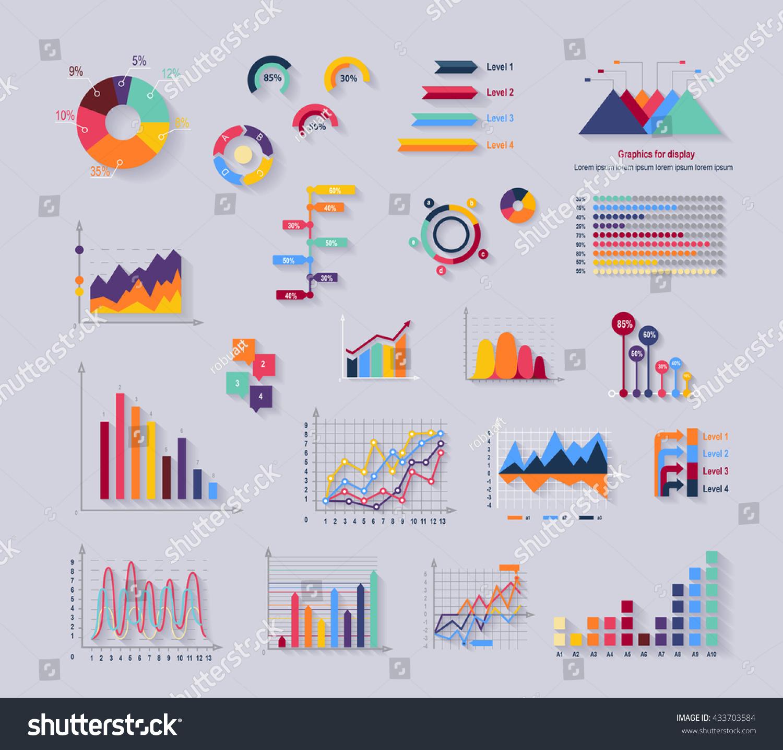data tools finance diagram graphic chart stock illustration